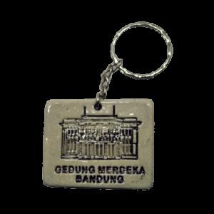 Gantungan Kunci Keramik Gedung Merdeka Bandung
